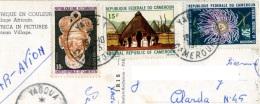 CAMEROUN  CAMEROON  Village Africain  3 Nice Stamps - Camerun