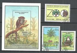 Malagasy Madagascar 1988 Year , Set + Block Used - Briefmarken