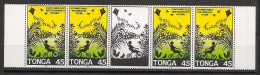 Tonga - 1993 - N°Yv. 906 à 907 - Bande Family - Surcharge / Overprint SPECIMEN - Neuf Luxe ** / MNH - Tonga (1970-...)