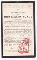 DP Maria C. De Vos DeVos ° Eeklo 1827 † St.-Laureins 1901 X J. Overmeire - Images Religieuses