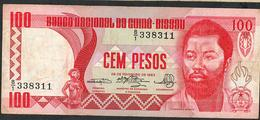 GUINEA BISSAU P6 100 PESOS 1983 Prefix B/1    VF NO P.h. ! - Guinea-Bissau