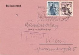 ÖSTERREICH 1951 - 10 + 90 Gro Gro Auf Pk Gel.1951 V.Saalfelden A.St.Meer > Wien - 1945-60 Cartas