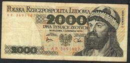 POLAND P147b 2000 ZLOTYCH 1979  AVF NO P.h. ! - Poland