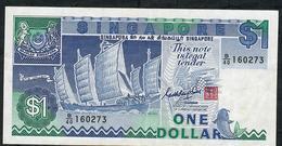 SINGAPORE P18a 1 DOLLAR 1987 Prefix B/40 VF NO P.h. ! - Singapore