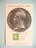 Carte Maximum - Card France  1945  Type Marianne De Dulac  N° 698   Cachet Paris -  Salon De La Marine - 1940-49