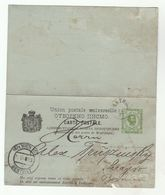 1893 MONTENEGRO  To BOSNIA Via VIENNA COMPLETE 3+3 REPLY POSTAL  STATIONERY CARD To Stamps Cover Austria - Montenegro