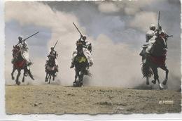 -AFRIQUE- ALGERIE - SCENES ET TYPES -Cavaliers Arabes - Scènes & Types
