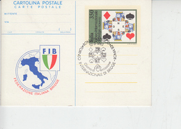 ITALIA  1983 - Federazione Int. Bridge - Annullo Speciale Illustrato - Giochi