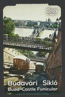 Hungary, Budapest, Funicular Ticket, Used. - Tram