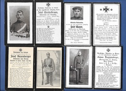 Lot 6 AVIS DE DECES Soldats Allemands - Guerre 14/18 - 1914-18