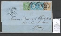 France - Bordeaux - 1872 - Tricolore Pour Paris - 1872 - 1849-1876: Période Classique
