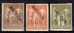 Réunion YT N° 13, N° 14 Et N° 16 Neufs *. B/TB. A Saisir! - Unused Stamps