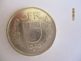 Suisse: 5 Francs 1949 - Switzerland