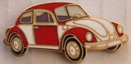 SAPEURS POMPIERS - VW COCCINELLE BLANCHE ET ROUGE - VOLKSWAGEN   -       (JAUNE) - Firemen