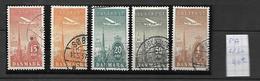 Danemark  1934    Poste   Aérienne   Cat Yt N°  6 à 10 - Poste Aérienne
