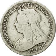 Monnaie, Grande-Bretagne, Victoria, 6 Pence, 1900, TTB, Argent, KM:779 - 1816-1901 : Frappes XIX° S.