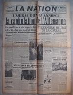 LA NATION : 8 MAI 1945 . CAPITULATION DE L'ALLEMAGNE . DE GAULLE CHURCHILL - Other