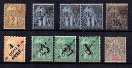 Saint-Pierre Et Miquelon Belle Petite Collection D'anciens 1891/1903. Bonnes Valeurs. B/TB. A Saisir! - St.Pierre Et Miquelon