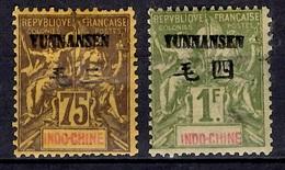 Yunnanfou Maury N° 12/13 Neufs *. B/TB. A Saisir! - Yunnanfu (1903-1922)