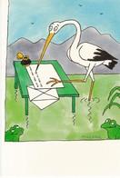 CPM Cigogne écrivant Une Lettre Dessin De Tomi Ungerer 2002 - Arts