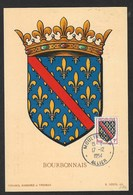 FRANCE - CARTE MAXIMUM BOURBONNAIS CACHET MOULINS R.P - 1950-59