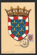 FRANCE - CARTE MAXIMUM TOURAINE CACHET TOURS R.P - 1950-59
