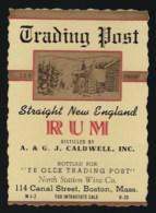 Ancienne étiquette   Rhum Straight New England Rum - Rhum