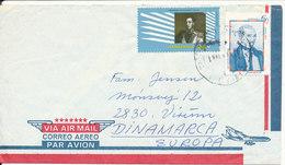 Venezuela Air Mail Cover Sent To Denmark 1981 Topic Stamps - Venezuela