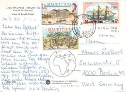MAURITIUS - PICTURE POSTCARD 1980 -> BERLIN - Mauritius (1968-...)