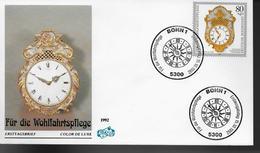 ALLEMAGNE    FDC 1992   Horloge Boite A Musique - Horlogerie