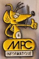SOURIS JAUNE - YELLOW MOUSE - MPC INFORMATIQUE  -           (NOIR) - Computers
