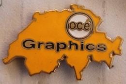 CARTE DE LA SUISSE - GRAPHICS - OCE   -           (NOIR) - Computers
