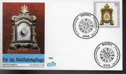 ALLEMAGNE    FDC 1992   Horloge A Données Geographique Etr Astromoniques - Horlogerie