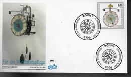 ALLEMAGNE    FDC 1992   Horloge A Echappement Externe - Horlogerie