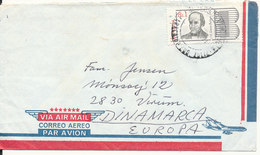 Venezuela Air Mail Cover Sent To Denmark Single Franked - Venezuela
