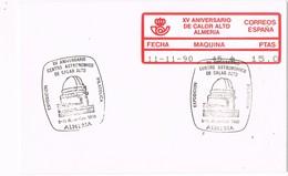 29582. Carta ALMERIA 1990. Observatorio Astronomico CALAR ALTO. ATM Epelsa - 1931-Hoy: 2ª República - ... Juan Carlos I