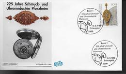 ALLEMAGNE    FDC 1992  Industrie Horlogerie Bijouterie Enseigne - Horlogerie