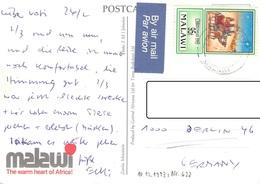 MALAWI - PICTURE POSTCARD 1994 -> BERLIN - Malawi (1964-...)
