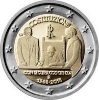 Itália 2euro Cc - Constituição - 2018  Nova - Italie