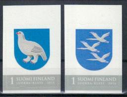Finnland 'Regionalmarken Schneehuhn U. Kraniche' / Finland 'Regional Stamps, Ptarmigan & Cranes' **/MNH 2016 - Uccelli