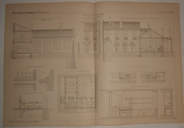 Plan De La Crèche De Picpus à Paris. M.M. Berger Bit Et Despras, Architectes. 1887. - Travaux Publics