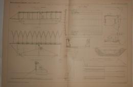 Plan Du Canal De L'Ourcq Et Ses Procédés Actuels D'entretien. 1887. - Public Works