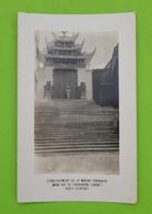 CPA CARTE PHOTO Chine (China) - Etablissement De La Marine Française Wang Kia To -Chungking - Porte D'entrée - Chine