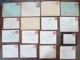 JOLI LOT 16 LETTRES Sans CORRESPONDANCES Avec SEMEUSES à Voir - 1903-60 Semeuse Lignée