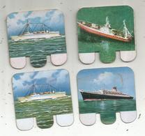 Publicité , Petite Plaque Tolée , Bateaux , HUILOR , SAMO, CREMOLINE , LOT DE 4 PLAQUES - Plaques En Tôle (après 1960)