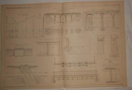 Plan Du Chemin De Fer De Confolens à Exideuil. Viaduc De La Faye. 1887. - Public Works