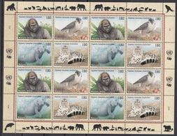 Ei_ UN UNO Genf - Mi.Nr. 227 - 230 - Postfrisch MNH - Kleinbogen - Tiere Animals - Genf - Büro Der Vereinten Nationen