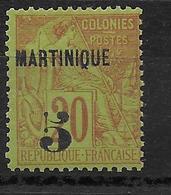 MARTINIQUE - YVERT N° 1 * CHARNIERE TRES LEGERE  - COTE = 80 EUR. - - Martinique (1886-1947)