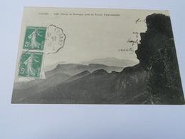 15  CANTAL CARTE ANCIENNE  EN NOIR ET BLANC DE 1913 CANTAL CHAINE DE MONTAGNE PRISE DU ROCHER PEYRARCHE    MAHOUX - Altri Comuni