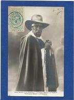 CPA Abyssinie Ethiopie Ethiopia Ethnic Afrique Noire Type Circulé Ménélik Roi - Ethiopia